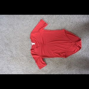 Red body suit